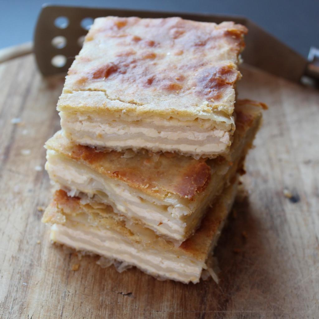 Torta rustica con fiocchi di tofu